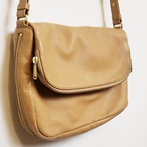 Fossil//Tan leather crossbody purse